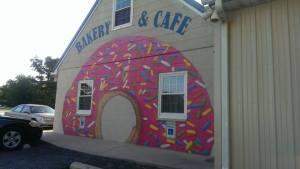 donut mural